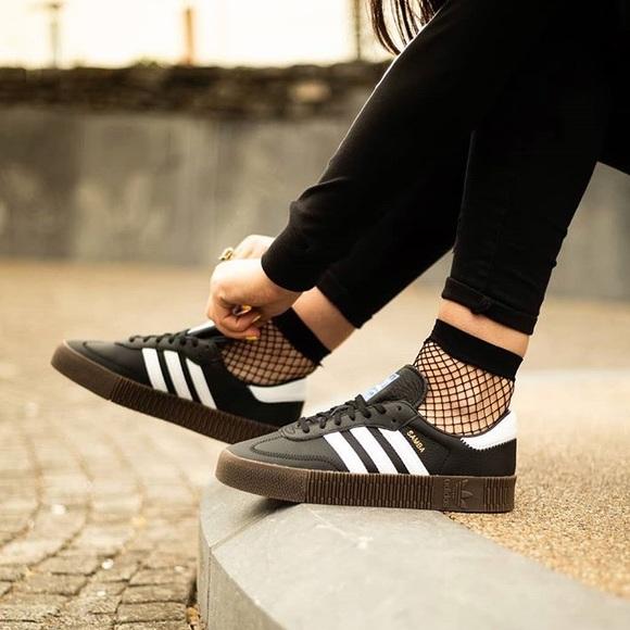 4541b566f32 Adidas Originals Samba Rose Platform Sneakers
